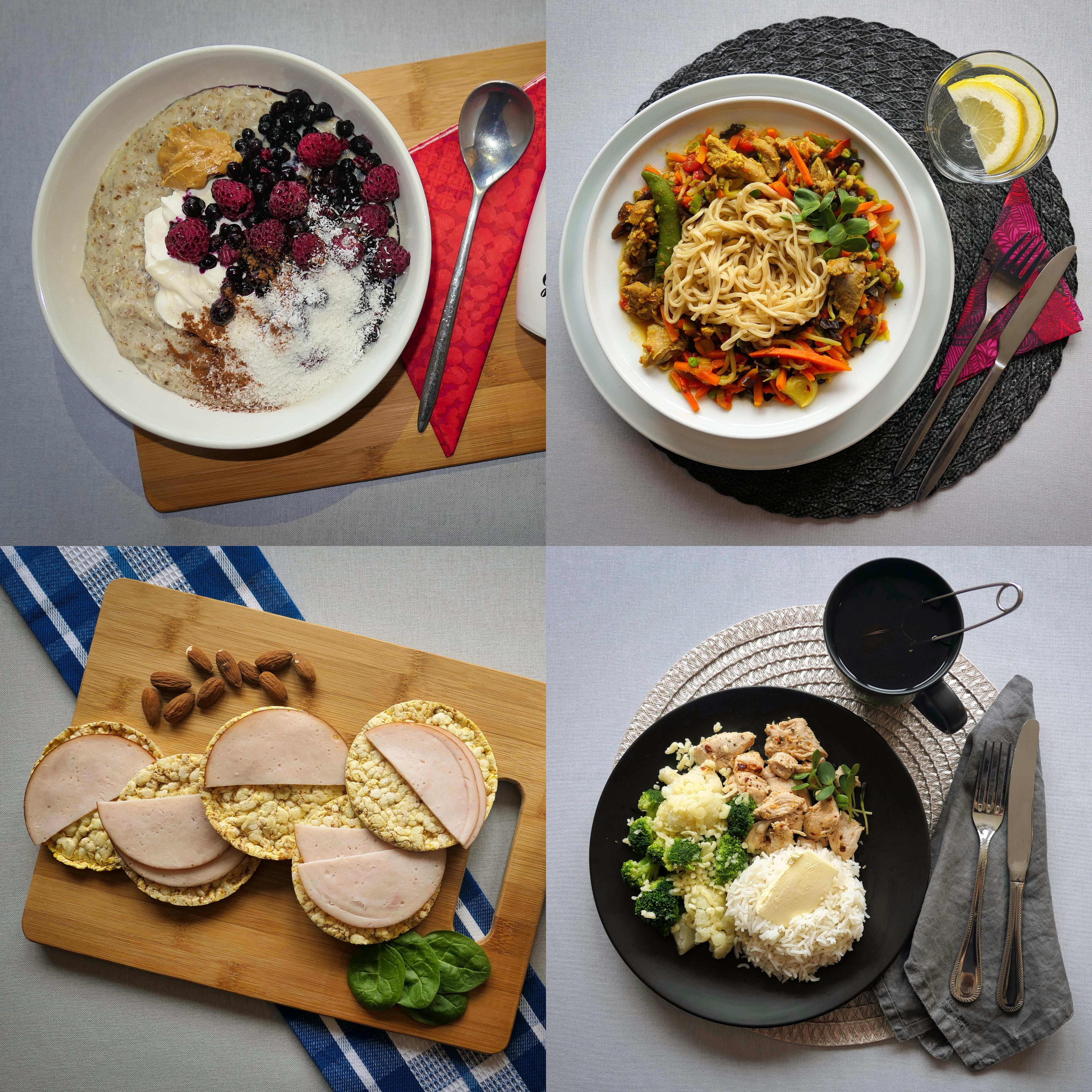 Menüü 2 – 1900 kalorit päevas