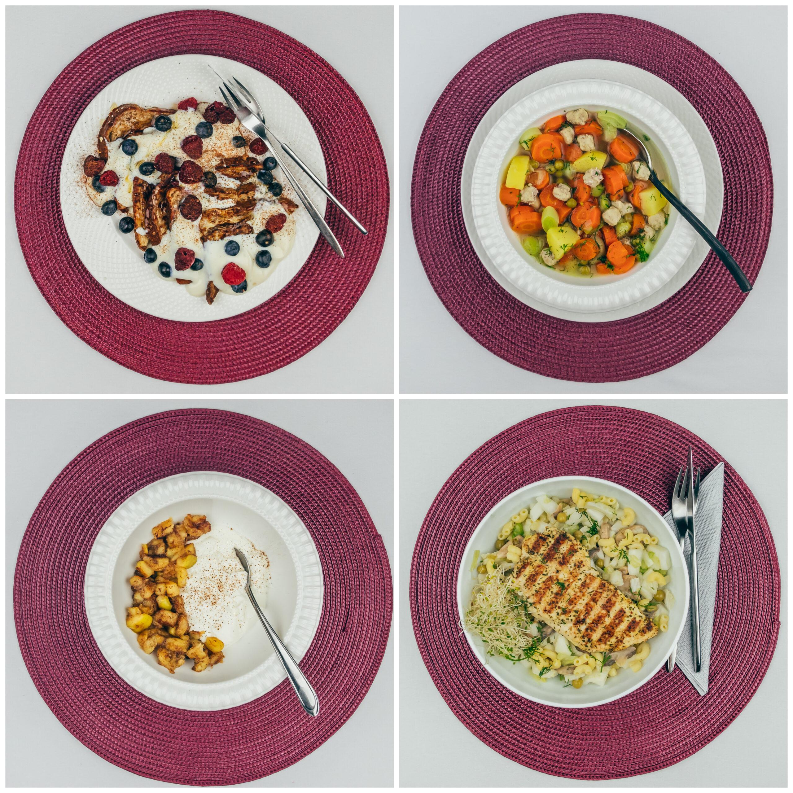 Menüü 29 -2200 kalorit päevas